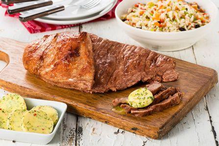 receita-fraldinha-assada-na-grelha-com-manteiga-de-ervas-e-arroz-a-grega-615553