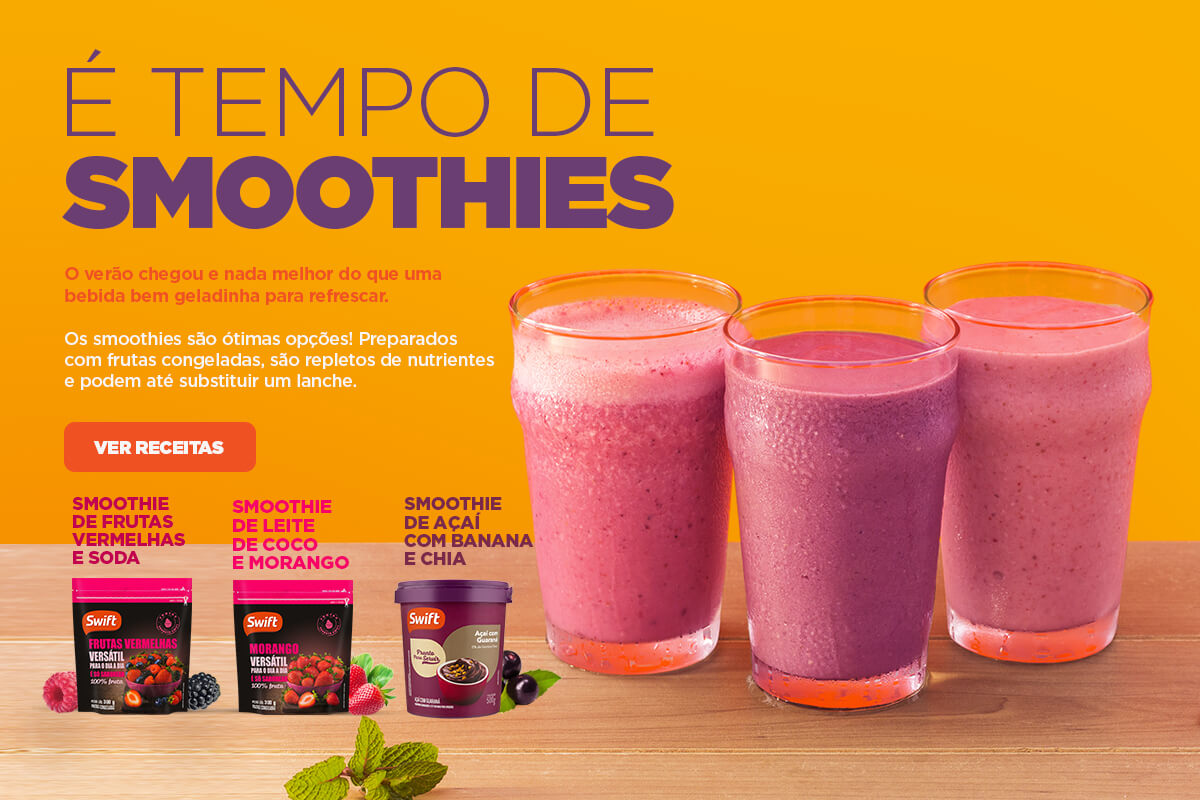 É tempo de Smoothies